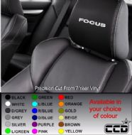 Ford Focus Logo Car seat Decals